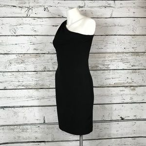 Calvin Klein Black Cocktail Dress Gold Accent 4